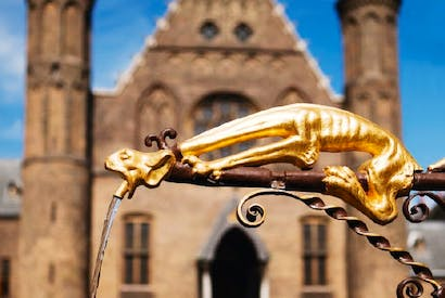 Look out below: one of The Hague's gargoyles