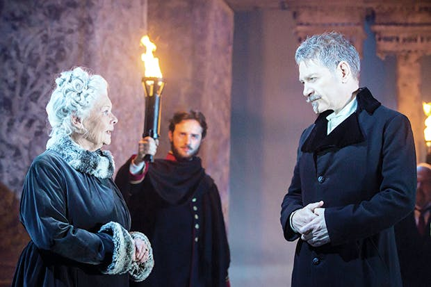 Judi Dench (Paulina) and Kenneth Branagh (Leontes) in 'The Winter's Tale'