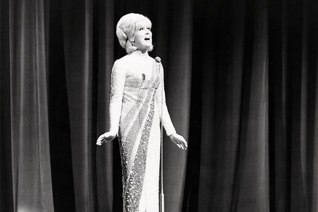 Dusty Springfield at the Royal Variety Performance in 1965 (Getty).