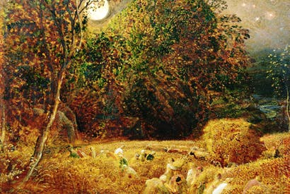Samuel Palmer's 'The Harvest Moon': 'the bowed forms of peasants are shadows of divinity'