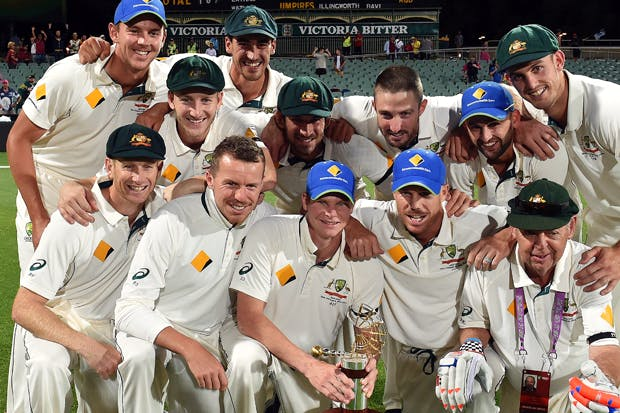 Australia celebrates after defeating New Zealand (Photo: Getty)