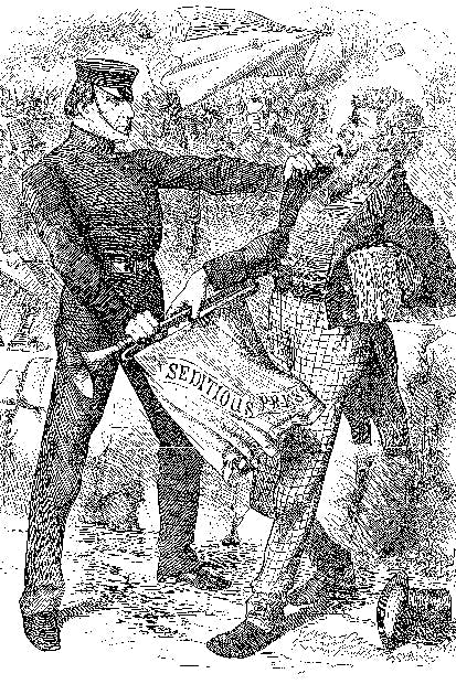 Gladstone silences the Irish press for inciting Fenian violence. Cartoon from Punch, 9 April 1890, by John Tenniel