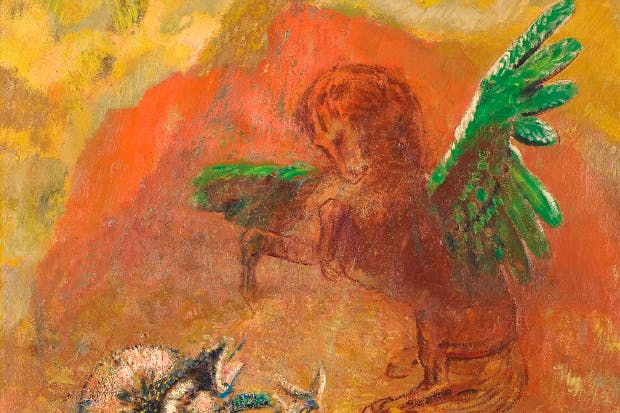 'Pegasus and the Hydra', after 1900, by Odilon Redon