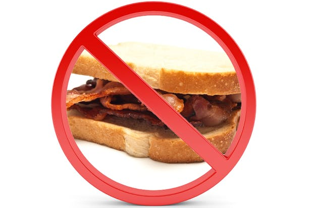 No bacon sandwiches allowed