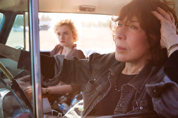 Julia Garner and Lily Tomlin in 'Grandma'