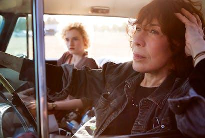 Julia Garner and Lily Tomlin in 'Grandma'
