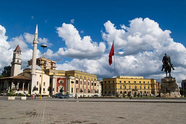 Charming: Skanderberg Square in Tirana