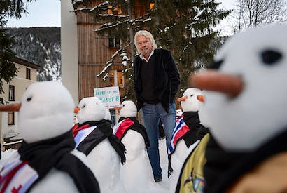 Richard Branson at Davos (Photo: Getty)