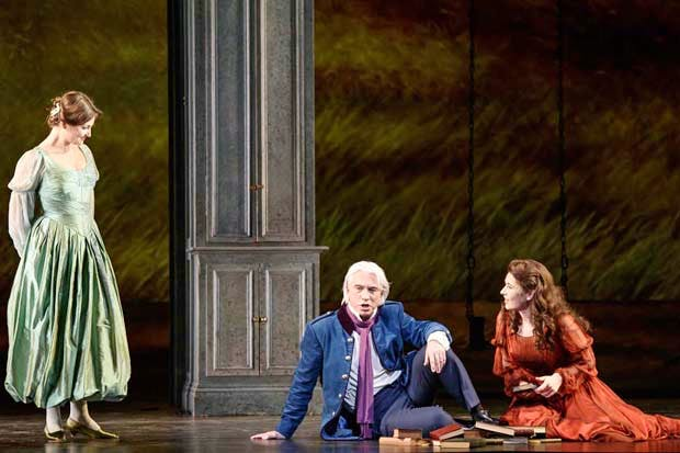 Oksana Volkova as Olga, Dmitri Hvorostovsky as Eugene Onegin and Nicole Car as Tatyana