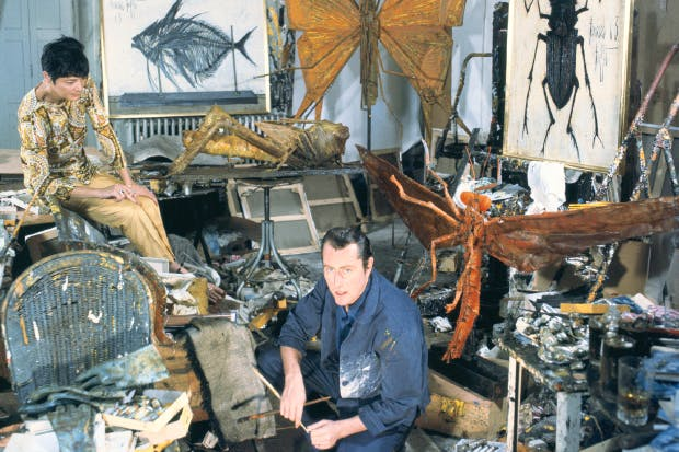 Junk artist Bernard Buffet in his château