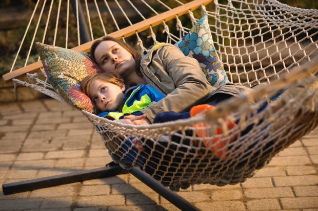 Close encounters: Jacob Tremblay and Brie Larson in 'Room'