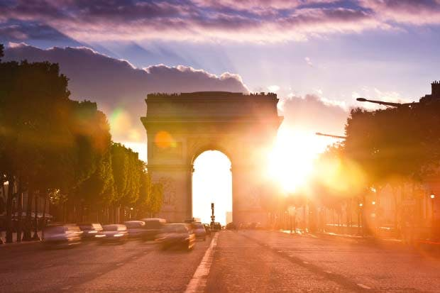 Still standing: the Arc de Triomphe