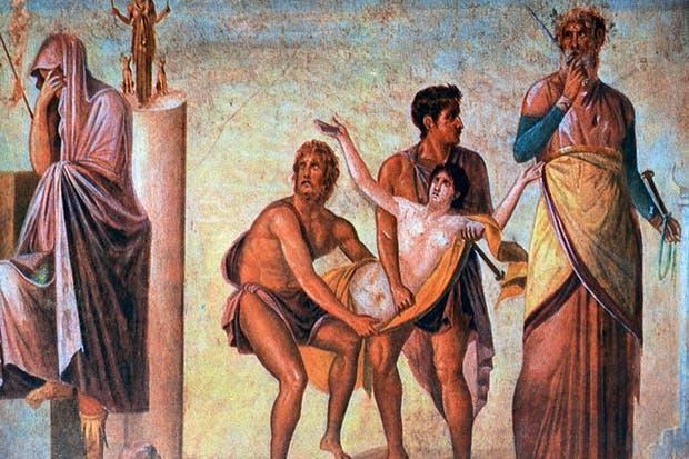 The sacrifice of Iphigenia: Agamemnon's crime was 'impious', according to Lucretius