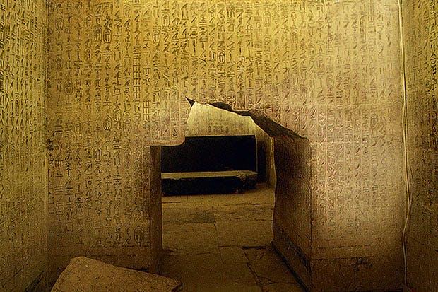 Pyramid texts at Saqqara