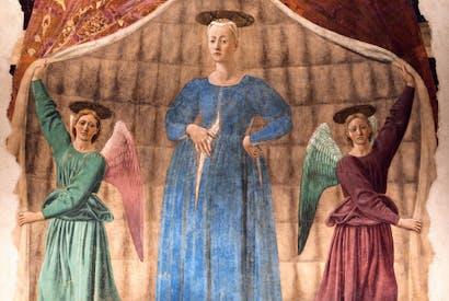 'Madonna del Parto' fresco in Monterchi by Piero della Francesca
