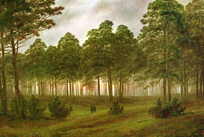 'The Evening' by Caspar David Friedrich
