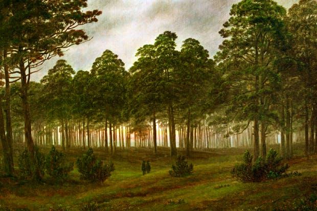 'The Evening' by Caspar David Friedrich