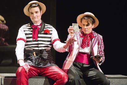 Nicholas Lester as Figaro and Nico Darmanin as Count Almaviva