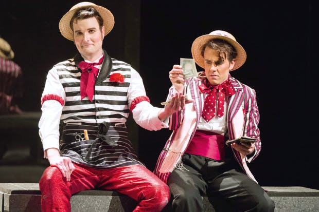 Nicholas Lester as Figaro and Nico Darmanin as Count Almaviva