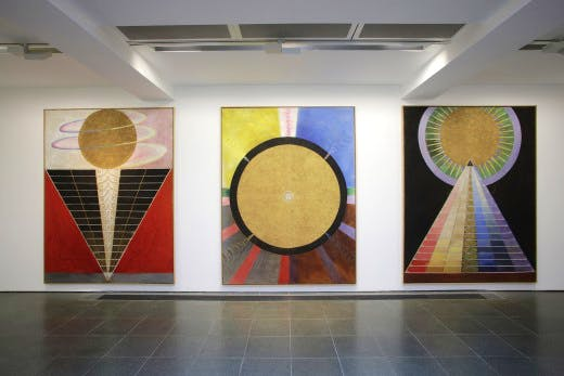 Installation view of the Serpentine's Hilma af Klint show. Photography by Jerry Hardman-Jones
