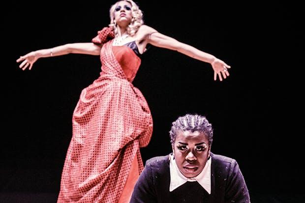 Sister act: Zawe Ashton and Uzo Aduba in Jean Genet's 'The Maids'