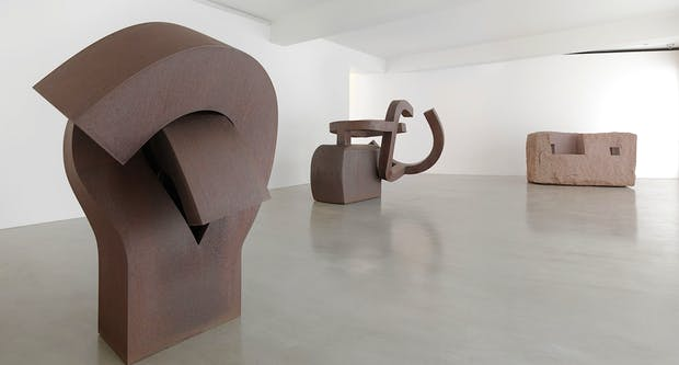 Installation view of the Chillida show at Ordovas. Photography by Mike Bruce