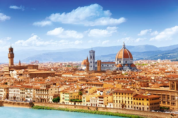 Unchanging: Florence's skyline and the Arno