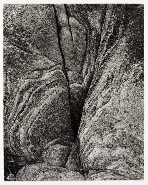 Paul Strand's 'Rock, Loch Eynort, South Uist, Hebrides' (1954)