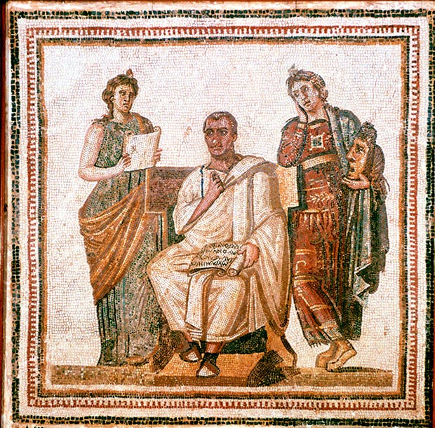 Virgil and the Muses (Roman mosaic from Sousse, Tunisia, third century ad)