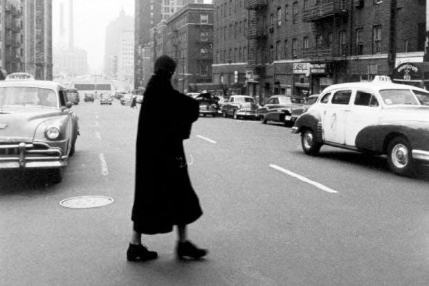 Greta Garbo in New York in 1955