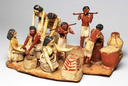 Wooden model of a brewing and baking workshop, Egypt, c.2000 bc, Fitzwilliam Museum, Cambridge