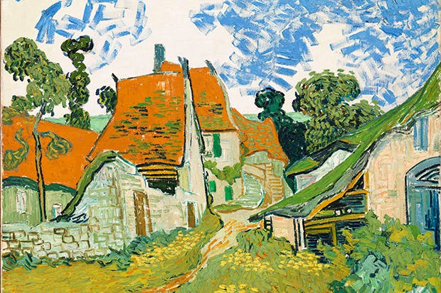 'Street in Auvers-sur-Oise' by Vincent van Gogh