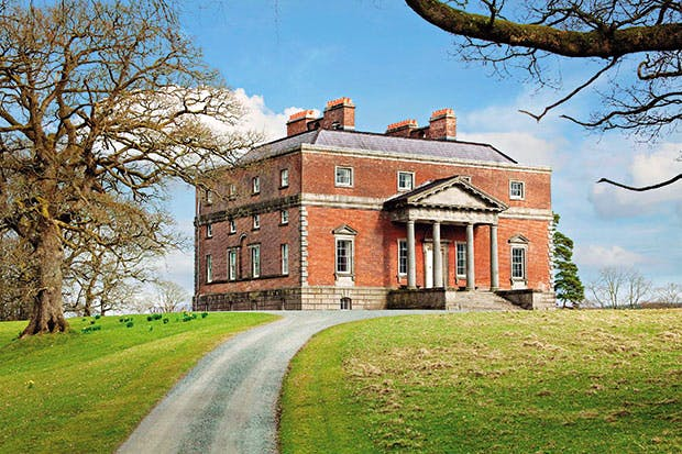 Bellamont Forest, Co. Cavan (c.1728), often described as a perfect Palladian villa, was designed by Sir Edward Lovett Pearce for Thomas Coote