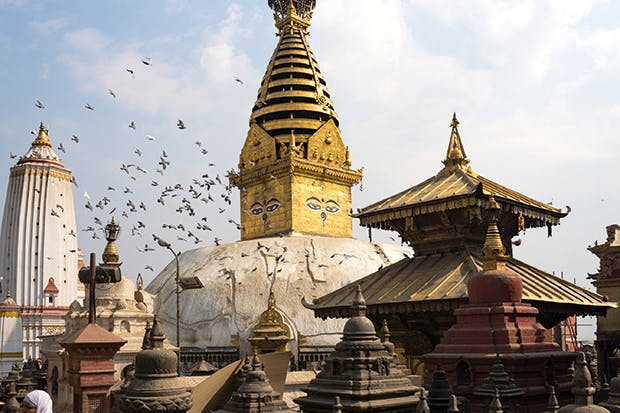 Kathmandu is famously reputed to have more temples than houses, more idols than residents