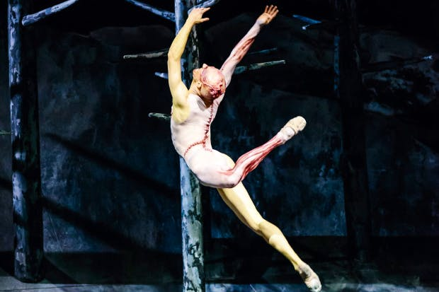 Vile body: Steven McRae as the Creature in 'Frankenstein'
