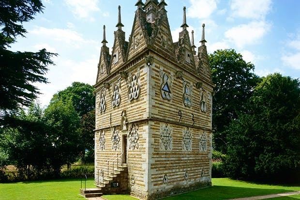An early folly: Rushton Triangular Lodge, Northamptonshire, built in 1597 by Sir Thomas Tresham as a symbol of the Holy Trinity