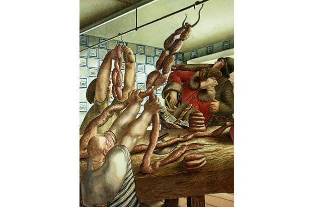 'Sausage Shop', 1951, by Stanley Spencer