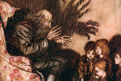 Illustration by Arthur Rackham for Washington Irving's Rip Van Winkle