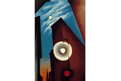 'New York Street with Moon', 1925, by Georgia O'Keeffe