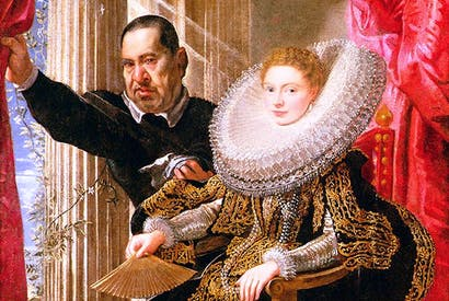 At Kingston Lacy, Dorset (right): Rubens's 'Portrait of a Noblewoman with a Dwarf', 1606