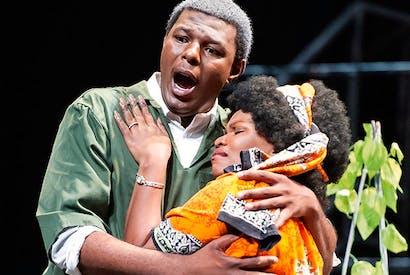 Vocal authority: Mandla Mndebele as Mandela and Siphamandla Yakupa as Winnie in 'Mandela Trilogy'