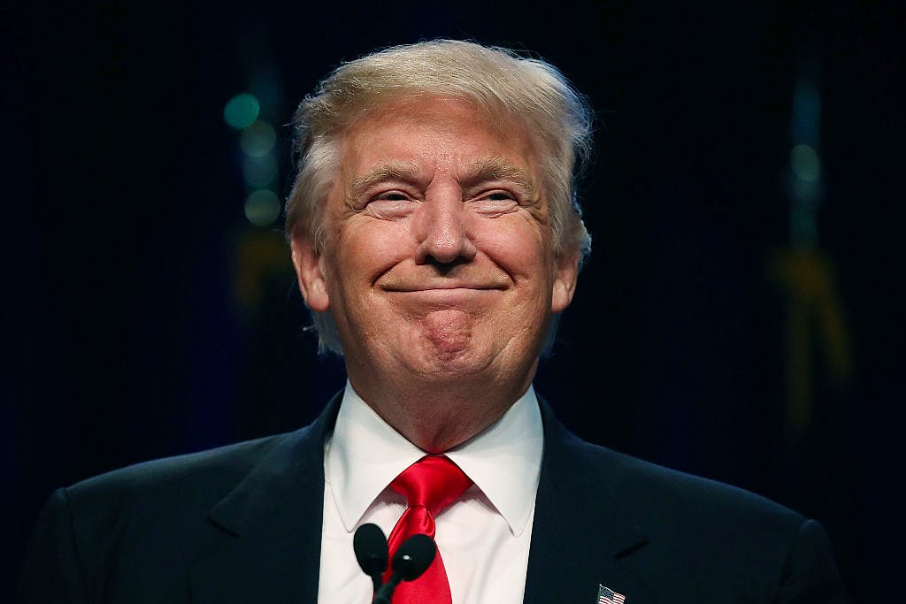 GOP Presidential Candidate Donald Trump Speaks At National Guard Annual Convention In Baltimore