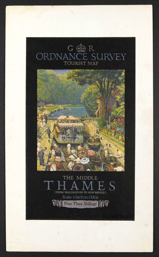 Twenties proofs of an OS tourist map. Photo: British Library