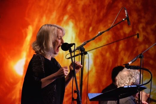 Jennifer Walshe performing her composition EVERYTHING IS IMPORTANT at HCMF. Photo: Brian Slater