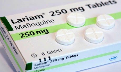 Box Lariam (mefloquine) antimalarial tablets
