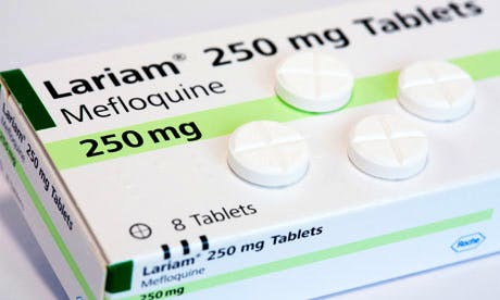 Box Lariam (mefloquine) antimalarial tablets