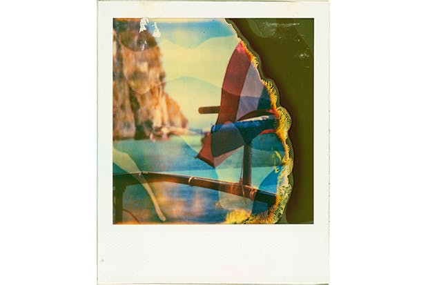 Painting with light: a Polaroid shot on vintage film by photographer Alex Cad