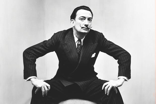 'Salvador Dalí, New York', 1947, by Irving Penn