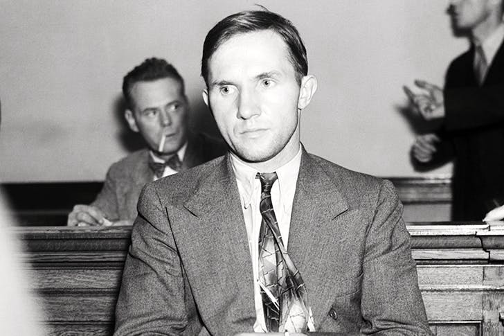 A frightened Bruno Hauptmann — dubbed 'The Most Hated Man in the World'— awaits questioning by the FBI over the kidnapping of the Lindbergh baby