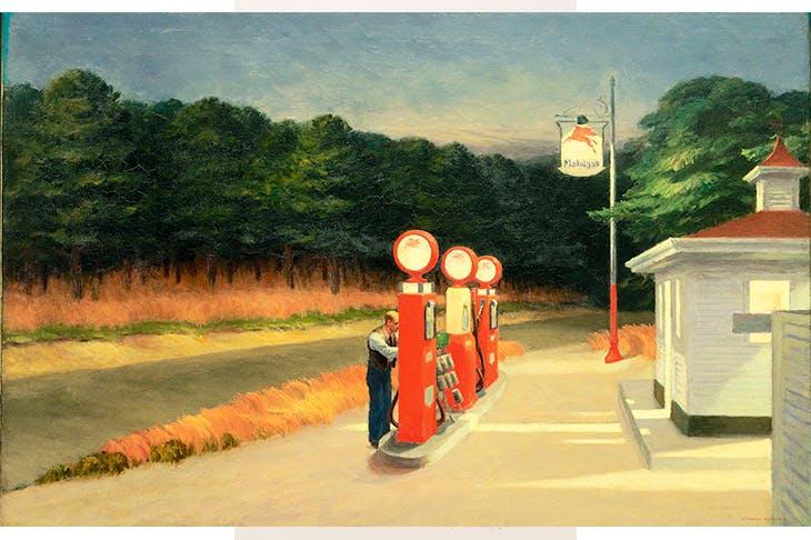 'Gas', 1940, by Edward Hopper